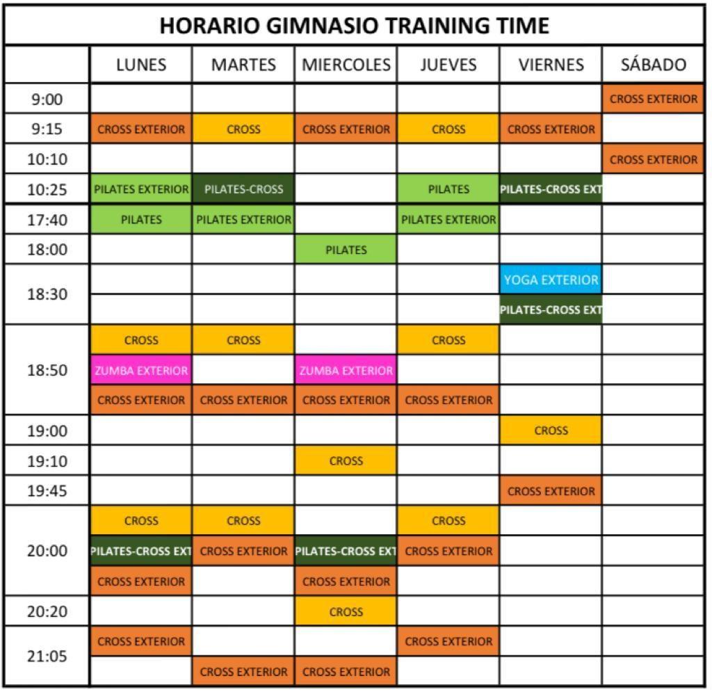 horarios-gimnasiotrainingtime